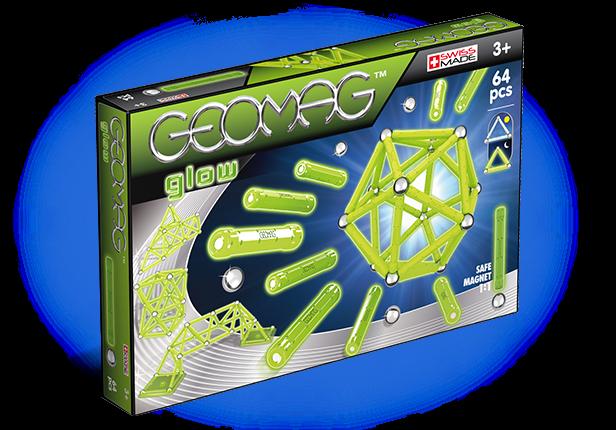 Магнитный конструктор GEOMAG 336 Glow 64 детали <br>