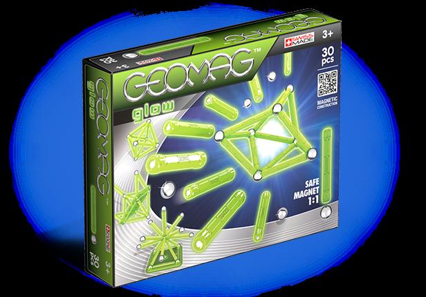 Магнитный конструктор GEOMAG 335 Glow 30 деталей <br>