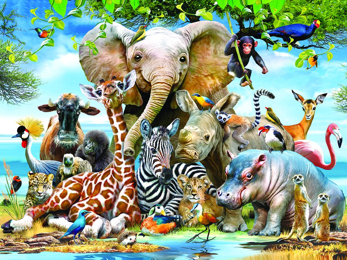 Утра, прикольная картинка группы животных
