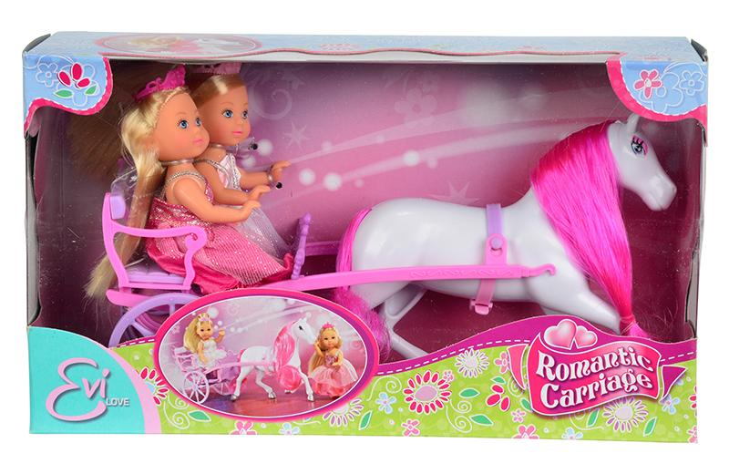 Кукла EVI 5736646 принцессы с каретой и лошадью <br>